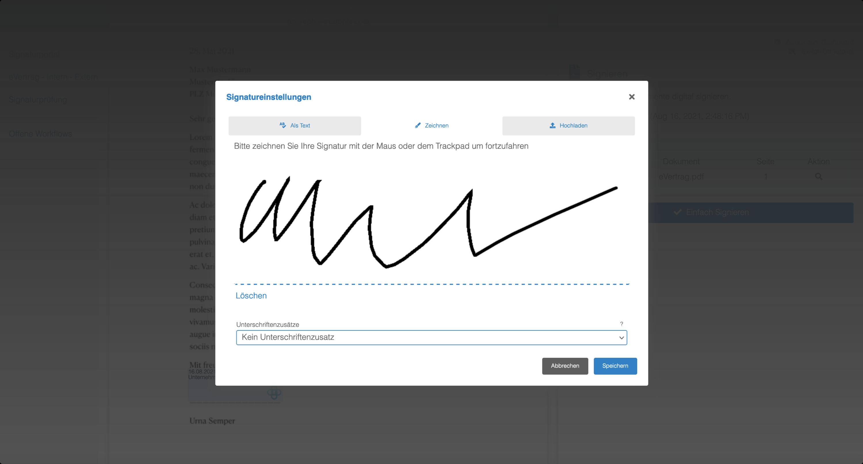 Unterzeichnen 3
